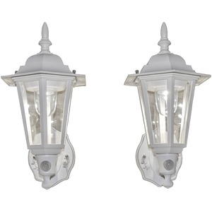 MAXSA(R) INNOVATIONS Battery-Powered Motion-Activated Plastic LED Wall Sconce, 2-Pack (White) 49719-2PACK