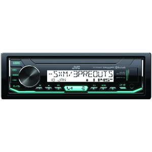 JVC(R) MOBILE KD-X35MBS Marine/Motorsports Single-DIN In-Dash AM/FM Digital Media Receiver with Bluetooth(R) & SiriusXM(R) Ready KD-X35MBS