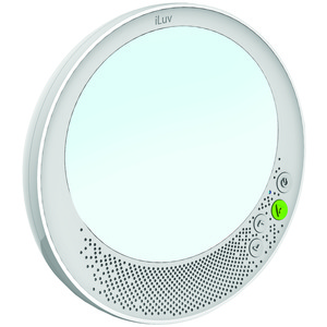 ILUV(R) Aud(R) Shower Mirror Bluetooth(R) Speaker AUDSMIRRWH