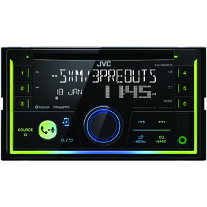 JVC(R) MOBILE KW-R930BTS Double-DIN In-Dash AM/FM CD Receiver with Bluetooth(R) & SiriusXM(R) Ready KW-R930BTS