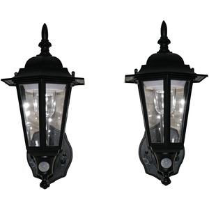 MAXSA(R) INNOVATIONS Battery-Powered Motion-Activated Plastic LED Wall Sconce, 2-Pack (Black) 44719-2PACK