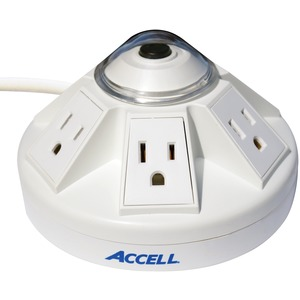 ACCELL(R) Powramid(R) 6-Outlet Power Center and Surge Protector (White) D080B-012K