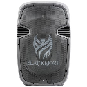BLACKMORE PRO AUDIO Amplified Professional PA System with Dual 15-Inch Monitors BJC-15X2BT