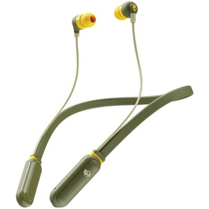 SKULLCANDY(R) Ink'd+(R) Wirelss In-Ear Earbuds with Microphone (Moss Olive/Yellow) S2IQW-M687