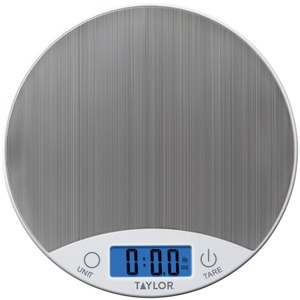 TAYLOR(R) PRECISION PRODUCTS Stainless Steel Digital Kitchen Scale 389621