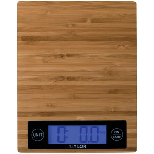 TAYLOR(R) PRECISION PRODUCTS Bamboo Digital Kitchen Scale 3828