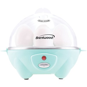 BRENTWOOD(R) APPLIANCES Electric Egg Cooker with Auto Shutoff (Blue) TS-1045BL