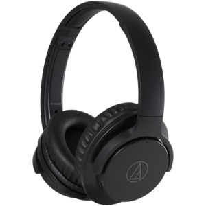 AUDIO-TECHNICA(R) ATH-ANC500BT QuietPoint(R) Wireless Over-the-Ear Active Noise-Canceling Headphones ATH-ANC500BTBK