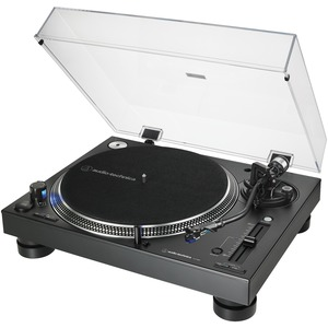 AUDIO-TECHNICA(R) Direct-Drive Professional DJ Turntable AT-LP140XP-BK