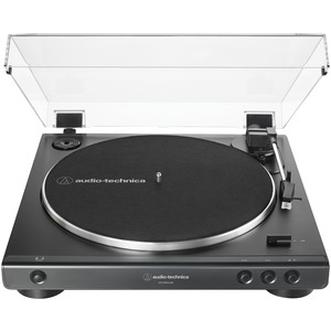 AUDIO-TECHNICA(R) USB and Analog Fully Automatic Belt-Drive Turntable (Black) AT-LP60XUSB-BK