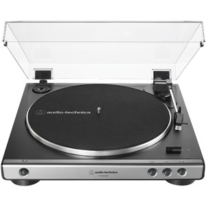 AUDIO-TECHNICA(R) USB and Analog Fully Automatic Belt-Drive Turntable (Gray) AT-LP60XUSB-GM