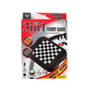 bulk buys 3-in-1 Classic Game Set - (Case pack of 6) OB988