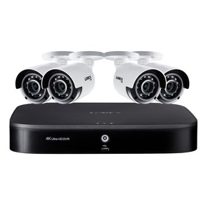 LOREX(R) 4K Ultra HD 8-Channel Security System with 2 TB DVR and Four 4K Ultra HD Color Night Vision Bullet Cameras with Smart Home Voice Control DK182-48CAE