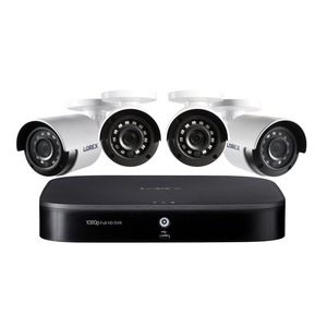 LOREX(R) 1080p Full HD 8-Channel Security System with 1 TB DVR and Four 1080p Night Vision Bullet Cameras with Smart Home Voice Control DP181-42NAE