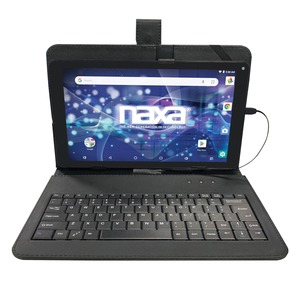 NAXA(R) 10.1-Inch Core Tablet with Android(TM) OS 8.1 and Keyboard NID-1020