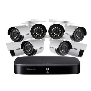 LOREX(R) 1080p Full HD 8-Channel Security System with 1 TB DVR and Eight 1080p Night Vision Bullet Cameras with Smart Home Voice Control DP181-82NAE