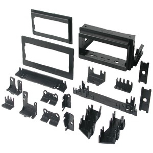 BEST KITS In-Dash Installation Kit (GM(R) Universal 1982 - 2003 with Factory Brackets & Flat .5 inch. & 1 inch. Trim Plates Single-DIN) BKGM4