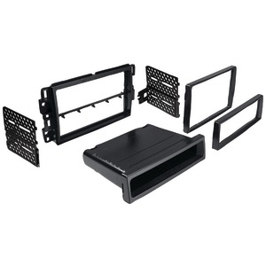 BEST KITS In-Dash Installation Kit (Chevrolet(R) Suburban-Tahoe 2007 - 2013 & Impala-Monte Carlo 2006 - 2007 Double-DIN-Single-DIN with Pocket) BKGMK317
