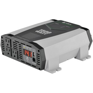 COBRA ELECTRONICS 2.1A USB 12-Volt DC to 120-Volt AC Power Inverter (1500 Watts) CPI1590