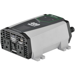 COBRA ELECTRONICS 2.1A USB 12-Volt DC to 120-Volt AC Power Inverter (400 Watts) CPI490