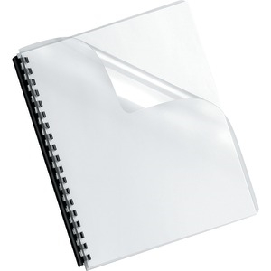 FELLOWES Crystals Transparent PVC Binding Cover Oversized 100pk 52311