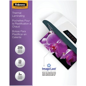 FELLOWES ImageLast(TM) Laminating Pouches Letter 200pk (3Mil) 5244101