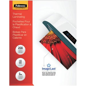 FELLOWES ImageLast(TM) Laminating Pouches Letter 200pk (5Mil) 5245301