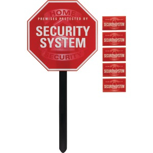 GE Security Yardstake Sign with Window Stickers 45400