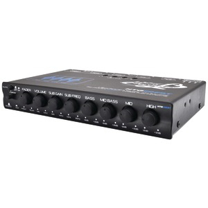 LANZAR Half-DIN 4-Band Parametric Equalizer with Subwoofer Gain Control & Bluetooth(R) Audio Connectivity HTG50EBT