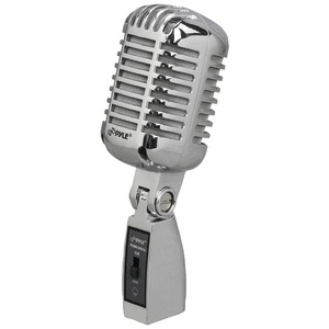 PYLE Classic Retro Vintage Style Dynamic Vocal Microphone (Silver) PDMICR42SL