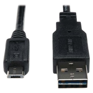 TRIPP LITE USB 2.0 Reversible A Male to Micro B Male Charging Cable 6ft UR050-006-24G