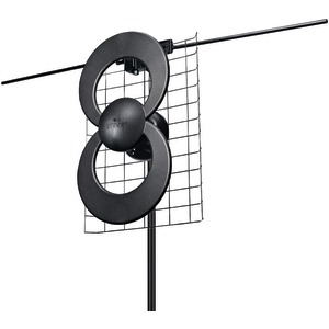 ANTENNAS DIRECT ClearStream(TM) 2V UHF-VHF Indoor-Outdoor DTV Antenna with 20 inch. Mount C2-V-CJM