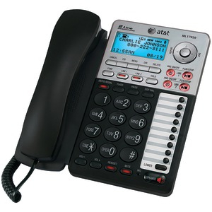AT&T 2-Line Corded Speakerphone with Caller ID and Digital Answering System 17939