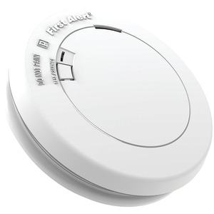 FIRST ALERT 10-Year Sealed-Battery Photoelectric Smoke Alarm Slim Round PR710
