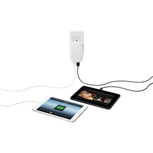 DoubleUp 2-Port 2.1-Amp USB Charger (White)