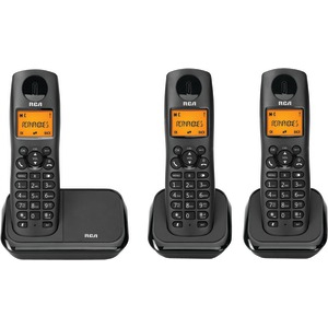 RCA Element Series DECT 6.0 Cordless Phone with Caller ID (3-Handset System) 2161-3BKGA