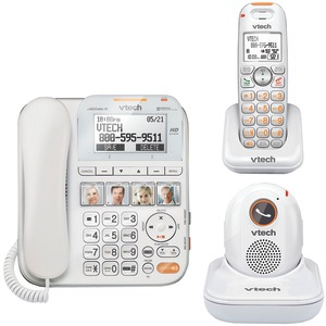 CareLine(R) Corded-Cordless Answering System with Portable Handset & Pendant