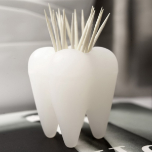 Toothpick Holder - Pick A Tooth - White