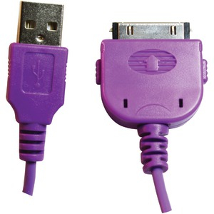 30-Pin USB Charge & Sync Cable (Purple)