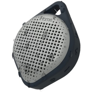 Splashproof Bluetooth(R) Rechargeable Speaker with Speakerphone (Black-Gray)