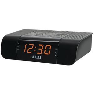 AM-FM PLL Alarm Clock Radio with USB Charger