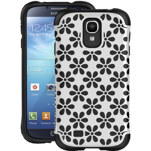 Samsung(R) Galaxy S(R) 4 Aspira Series Flower Case (White-Black)