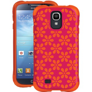 Samsung(R) Galaxy S(R) 4 Aspira Series Flower Case (Hot Pink-Tangerine)