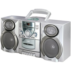 Mini AM-FM-CD-Cassette Recorder with Detachable Speakers