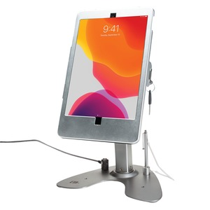 CTA DIGITAL(TM) Dual Security Kiosk Stand with Locking Case and Cable for iPad(R) 10.2-Inch 7th Generation PAD-ASK10