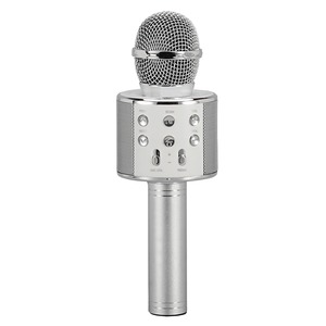 Wireless Bluetooth(R) Microphone with Built-in Hi-Fi Speaker (Silver)