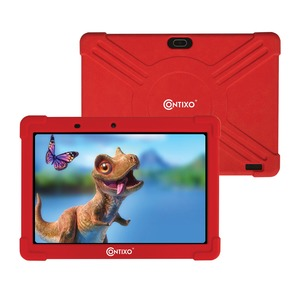 CONTIXO 10-Inch Kids Tablet Kids Tablet with Protective Case and 16 GB Storage (Red) K101 RED