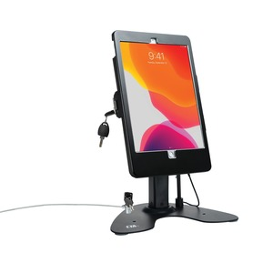 CTA DIGITAL(TM) Dual Security Kiosk Stand with Locking Case and Cable for 10.2-Inch iPad(R) (Black) PAD-ASKB10
