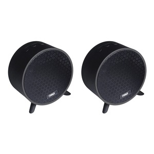 NAXA(R) Dual Bluetooth(R) True Wireless Sync Speakers Combo (Circle) NAS-3106D