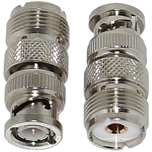 TRAM(R) BNC Male to SO-239 UHF Female Adapter, 2-Pack 5678
